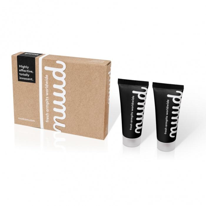 akcesoria erotyczne: Nuud Antiodorant - black edition // przełom w higienie // 2 x 20 ml – na 20 tygodni