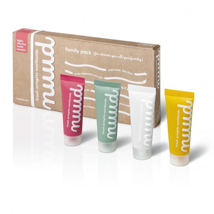 akcesoria erotyczne: higiena Nuud Antiodorant // przełom w higienie // 4 x 20 ml – opakowanie rodzinne