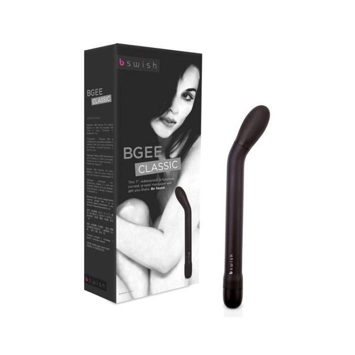 akcesoria erotyczne: Bgee Black – czarny // wibrator punktu G