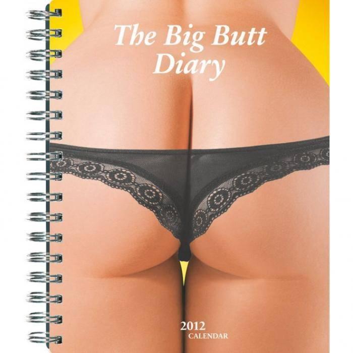 książki erotyczne: Big Butt Diary // kalendarz/notes na 2012