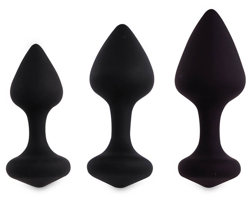 Bibi Butt Plug Set 3 pcs Black