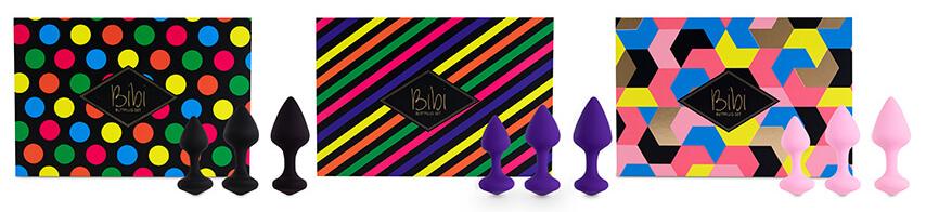 Bibi Butt Plug Set 3 pcs Pink
