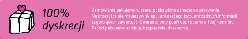 zakupione produkty pakujemy w dyskretny sposób, dyskretna przesyłka, u nas możesz liczyć na dyskretną dostawę na terenie całej polski
