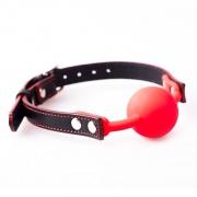 akcesoria erotyczne: Knebel – czerwony // Earth&Fire // ręcznie robiony