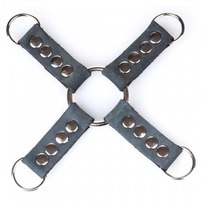 akcesoria erotyczne: Łącznik Hogtie // Bruised Gray // zapięcie D-ring