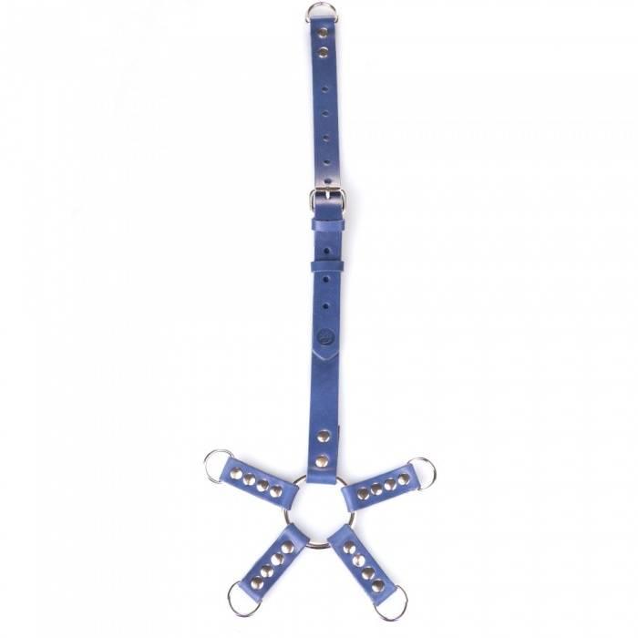 akcesoria erotyczne: Łącznik Hogtie Xtreme // True Blue // zapięcie D-ring