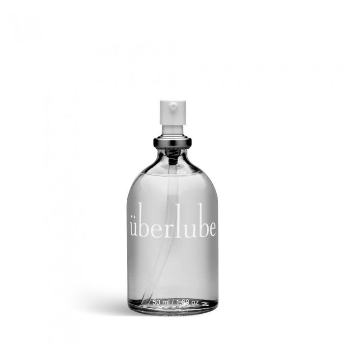 akcesoria erotyczne: lubrykant überlube – 50 ml // lubrykant silikonowy // w szklanej butelce