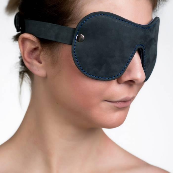 akcesoria erotyczne: Maska na oczy // Bruised Gray // z naturalnej skóry
