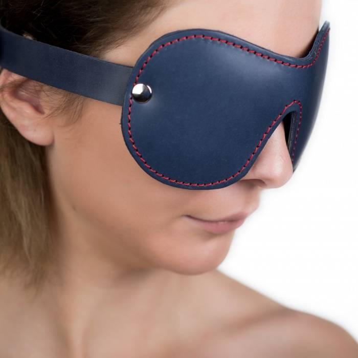 akcesoria erotyczne: Maska na oczy // True Blue // z naturalnej skóry