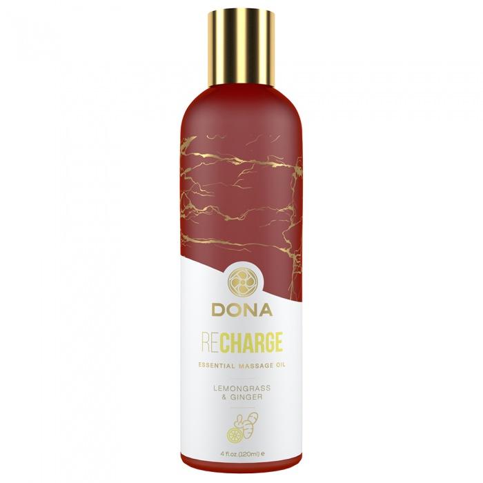 akcesoria erotyczne: Dona Recharge // wegański olejek do masażu // trawa cytrynowa i imbir
