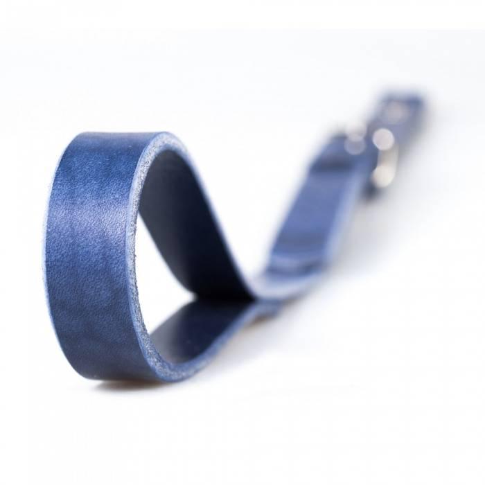 akcesoria erotyczne: Smycz BDSM // True Blue // zapięcie D-ring