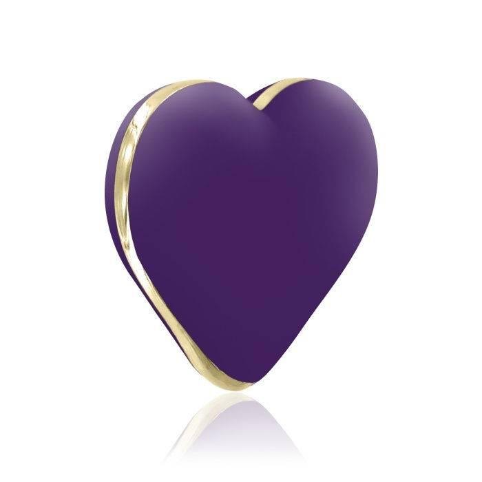 akcesoria erotyczne: Heart Vibe – ciemny fiolet // wibrator serduszko