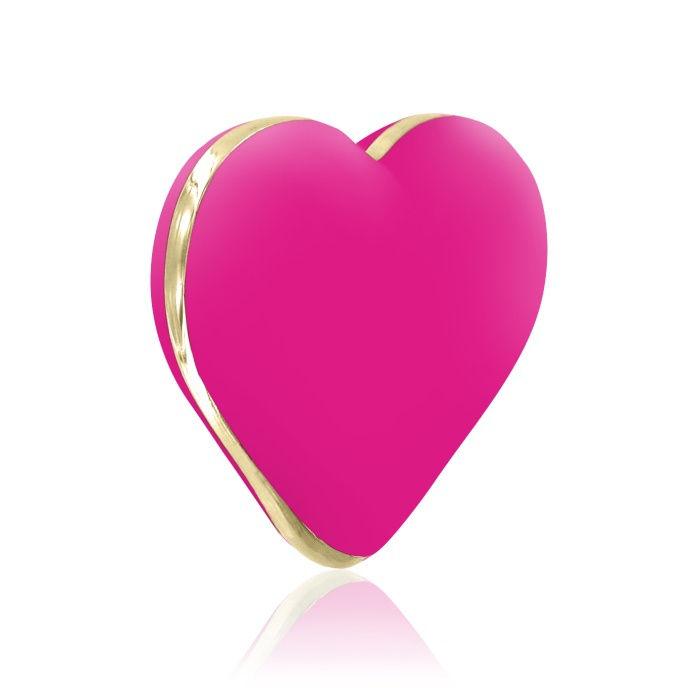 akcesoria erotyczne: Heart Vibe – ciemny róż // wibrator serduszko