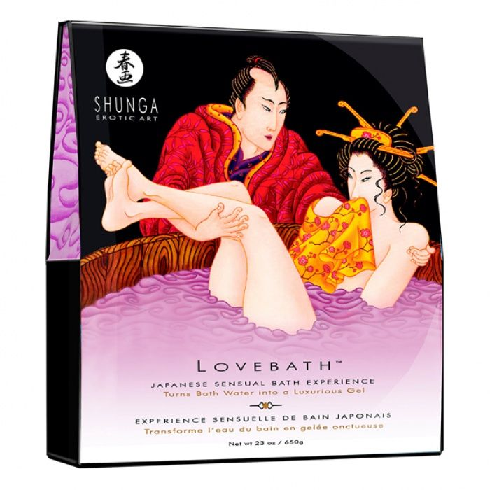 akcesoria erotyczne: kosmetyk erotyczny Lovebath – żel do kąpieli // kwiat lotosu